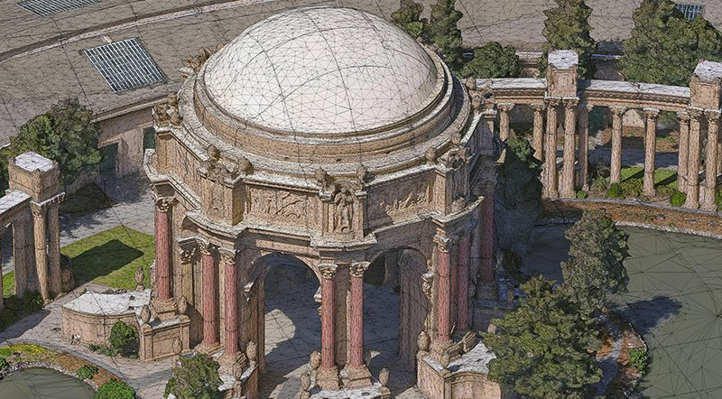 San Francisco Palace of Fine Arts 3D Mesh